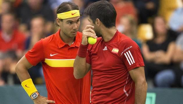 Rafa Nadal y Fernando Verdasco.