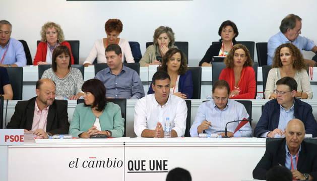 Pedro Sánchez durante la reunión del Comité Federal.