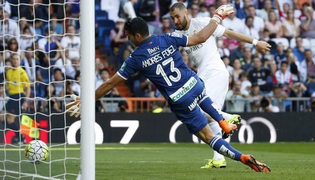 Karim Benzema marcó el 1-0.