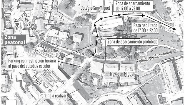 Noáin peatonalizará y prohibirá estacionar en la calle San Miguel