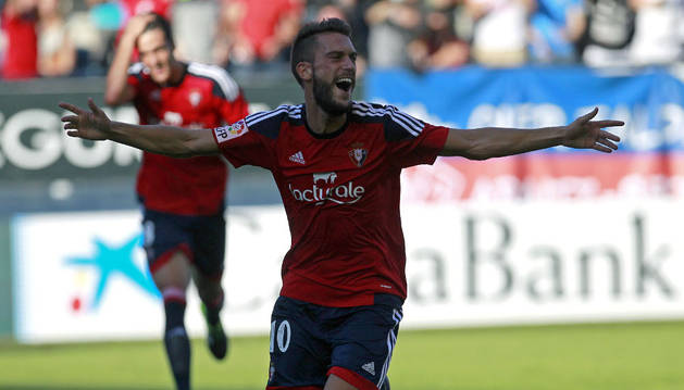 Roberto Torres celebra su gol al Leganés.