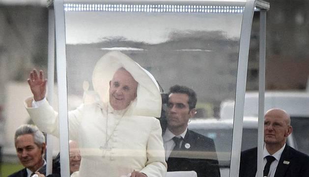 Llegada del papa Francisco a La Habana