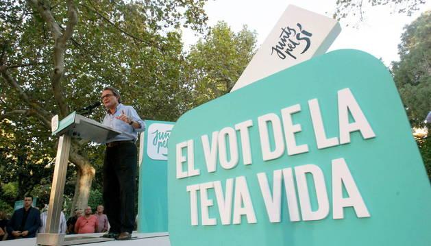 El presidente catalán y número cuatro de Junts pel Sí, Artur Mas.