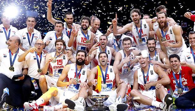 Celebración del título de campeones de Europa