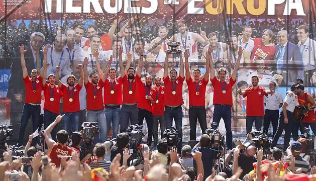 Recibimiento a los campeones del Eurobasket 2015