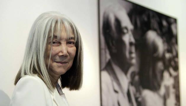 María Kodama durante la presentación de 'El atlas de Borges'.