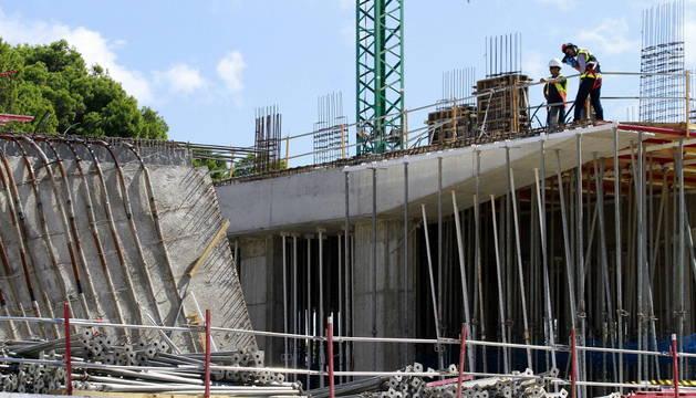 Edificio en construcción en el que se ha producido el suceso.