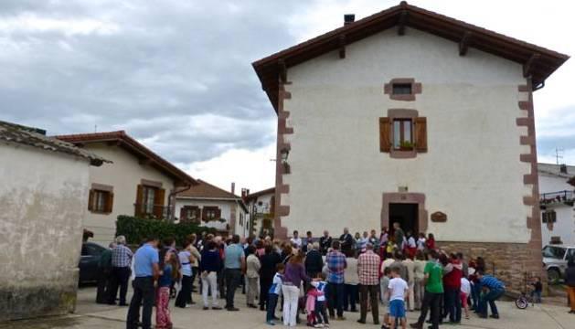 Instante de la inauguración del nuevo albergue de Lantz.