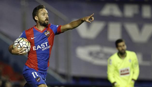 Morales celebra su gol contra el Eibar.