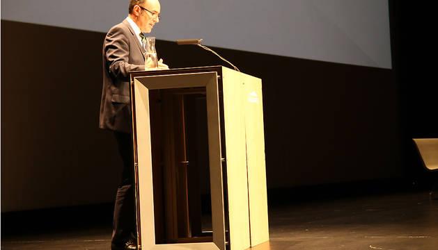 El vicepresidente Ayerdi, en la apertura de la Pamplona Innovaction Week.