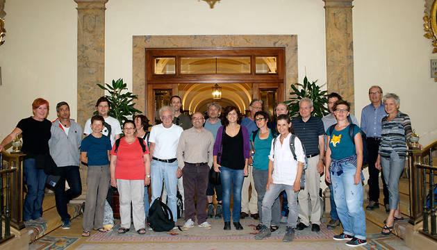 Foto de familia de la delegación.
