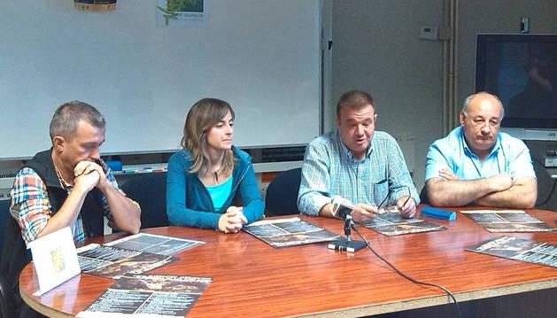 De izquierda a derecha, Mikel Albisu, Maite Iturre, Juan Goñi y Santiago Villares.