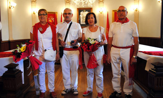 De izda. a dcha., Dolores Jiménez, Juan Fernández, Mª Socorro Sanz y Javier Librada.