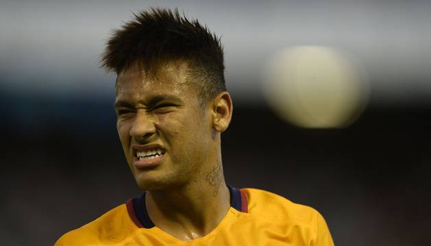 Neymar, con el Barça.