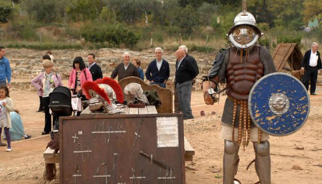 Combate entre gladiadores en Santacara.