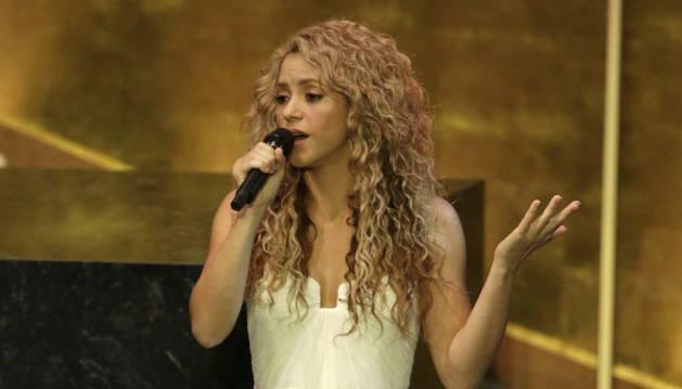 Shakira pone música a la cumbre de desarrollo de la ONU