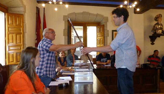 José Luis Murgiondo en el momento de su toma de posesión el pasado 13 de junio.