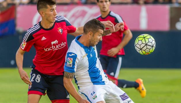 David García, en el partido contra el Leganés.