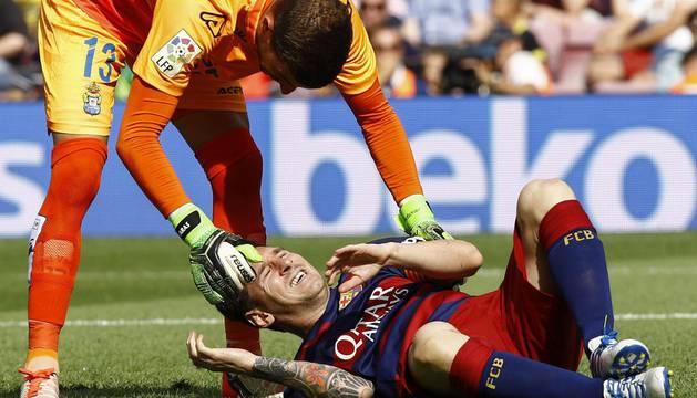 Messi y Javi Varas.