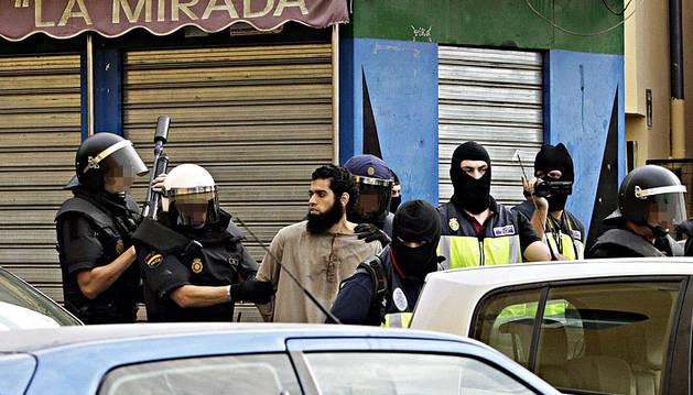 Una detención de presuntos yihadistas en Melilla.