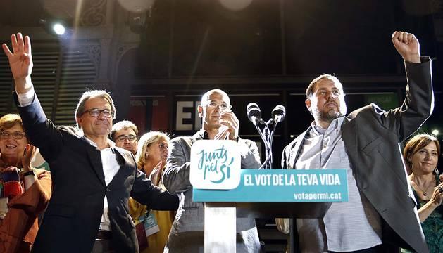 Noche electoral en Cataluña
