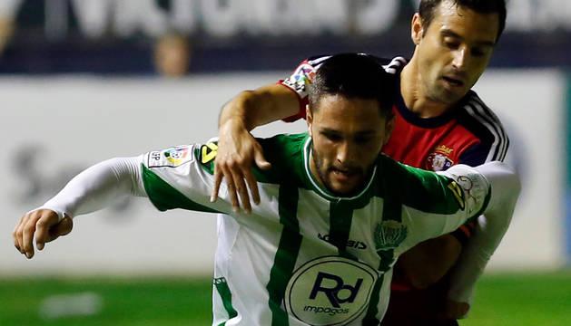 Miguel Flaño, en el partido contra el Córdoba.