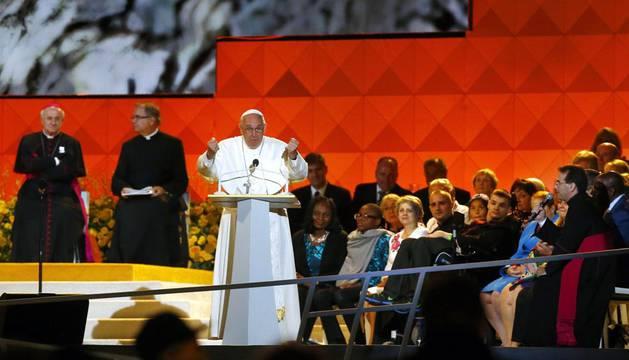 El Papa Francisco, durante su intervención en EE UU.