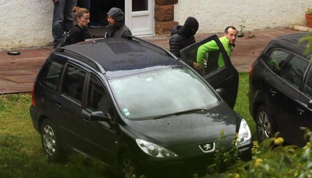 David Pla durante su detención.