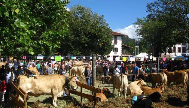 Miles de personas acudieron a la feria de ganado pirenaico atraídas por el buen tiempo.