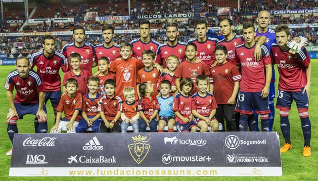 Alineación de Osasuna contra el Córdoba con 9 navarros.