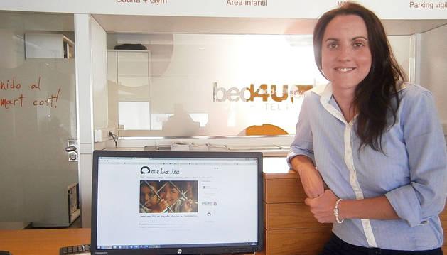 La directora del hotel Bed4U Pamplona, Laura Ruiz