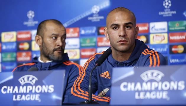 Nuno y Abdennour, en rueda de prensa.