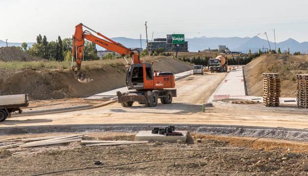 Aspecto que presentaba la urbanización la semana pasada, antes de iniciar el asfaltado.