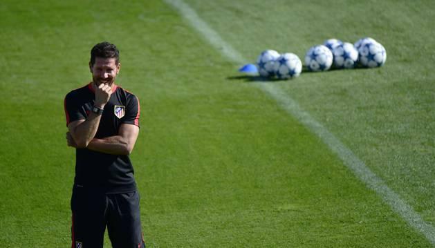 Simeone, con el Atlético.