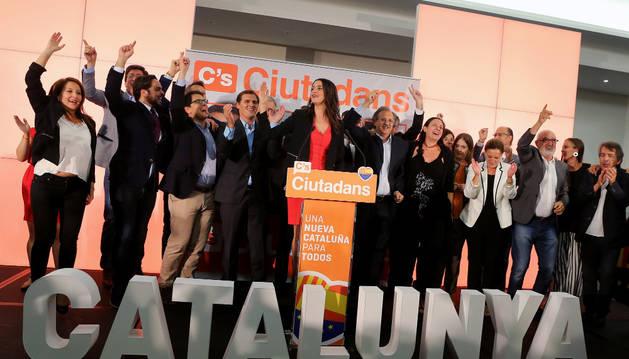Rueda de prensa de Ciudadanos para valorar los resultados del 27-S.
