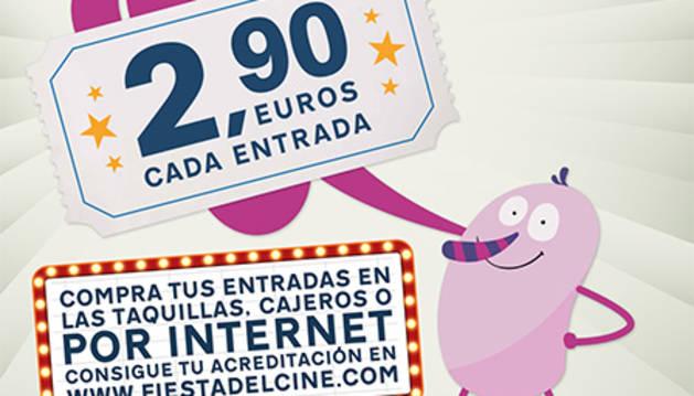 Cartel de la 'Fiesta del cine'.