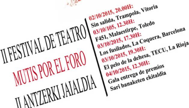 Cartel del festival 'Mutis por el foro'.