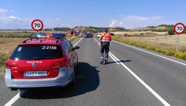 El suceso se ha producido a las 12.30 horas en la carretera NA-160 (Tudela-Fitero).