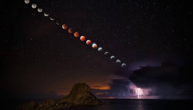 Una foto española del ecplise, imagen del día de la NASA
