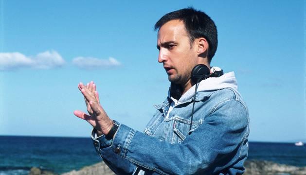 Alejandro Amenábar, durante el rodaje de 'Mar adentro'