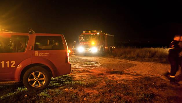 Sofocan un incendio en Tafalla cerca de unas viviendas