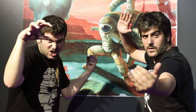 Los hermanos David y José Manuel Muñoz, componentes del grupo Estopa.