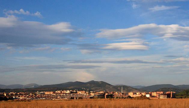 Nubes sobre Pamplona.