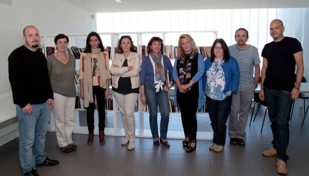 Visita al centro de atención a personas sin hogar del Ayuntamiento de Pamplona.