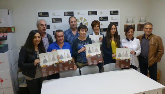 Rocío Rodríguez Cuevas (Calzados Mila), José Flamarique, Loreto San Martín, Paula Alén Valdés (Mokka), Eva Oroquieta Recondo (Gothyka) y Juan Andrés Echarri. Por detrás, Ángel Aguinaga e Ino Illanes.