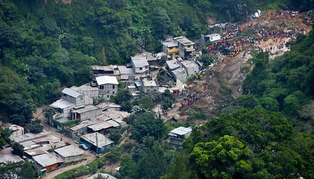 Un deslizamiento de tierras causa 23 muertos en Guatemala