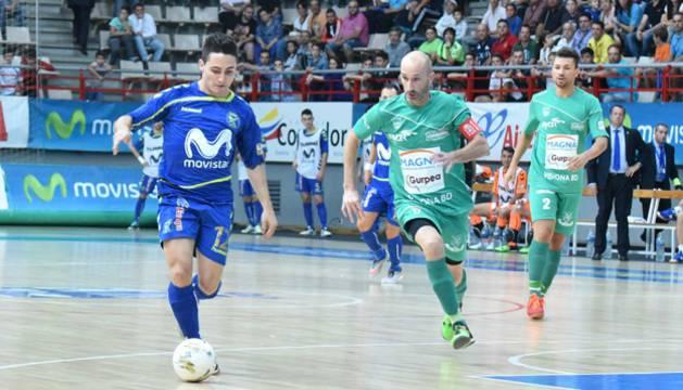 Borja y Eseverri, en el partido de este sábado.