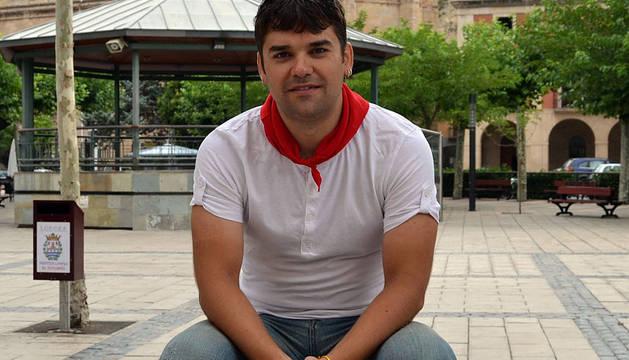 El alcalde de Lodosa, Pablo Azcona.