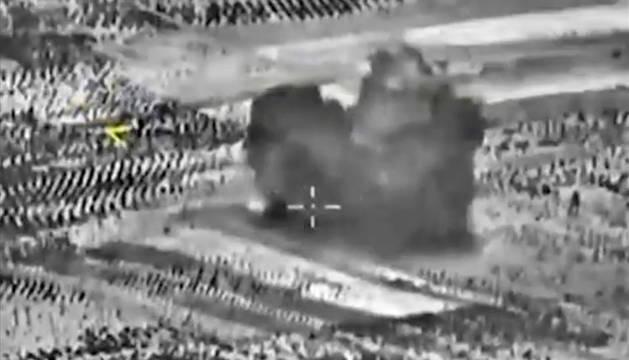 Imagen cedida por Rusia del ataque a fábricas de armas.