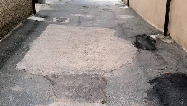 Imagen de una de las calles que serán mejoradas.